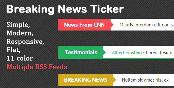 Ticker Chợ Trên Breaking Theme News